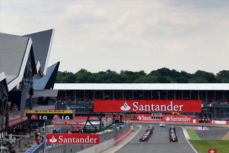 Start of the British Grand Prix at Silverstone.