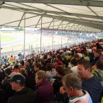 Grandstand view of Luffield corner.