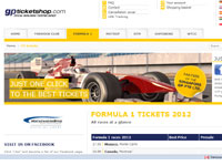 GPTicketShop.com Formula 1 tickets