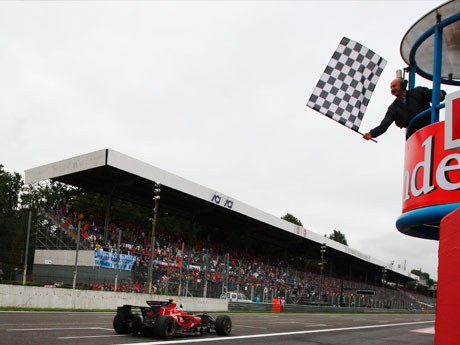 Sebastian Vettel took his first victory in Monza in 2008