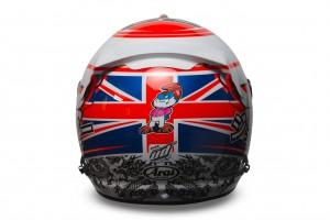 Jenson Button 2015 Crash Helmet - Rear View
