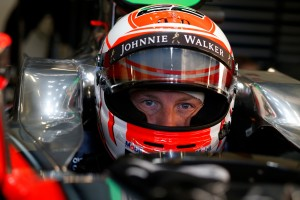 Jenson Button 2015 Crash Helmet - In car