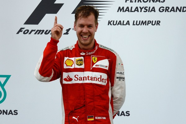 Vettel winning for Ferrari in Malaysia
