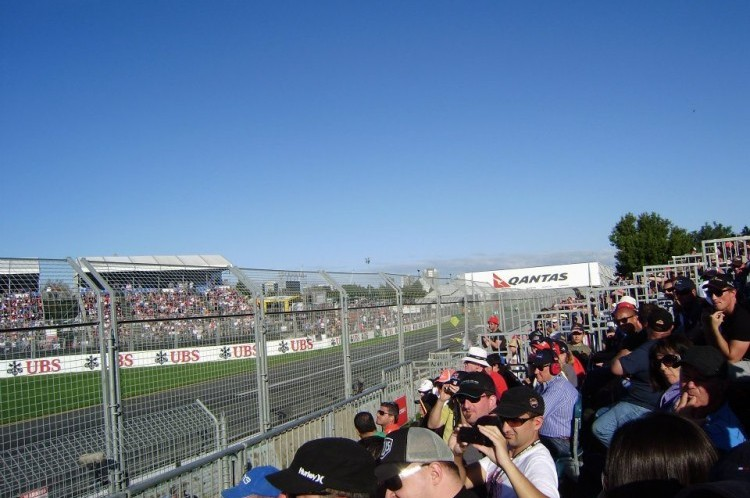 View from turn 1 at Albert Park