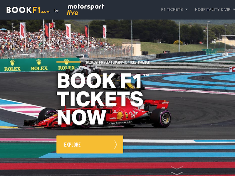 BookF1.com F1 tickets